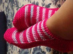 Knit Lílian: Sapatinhos de Tricô / Knitted Slippers