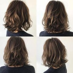 80 Bob Hairstyles To Give You All The Short Hair Inspiration - Hairstyles Trends Pretty Hairstyles, Bob Hairstyles, Medium Permed Hairstyles, Hairstyle Ideas, Bob Haircuts, Medium Hair Styles, Curly Hair Styles, Shoulder Length Hair, Layered Hair
