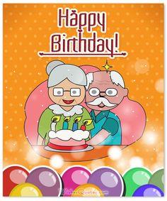 Happy birthday for elderly
