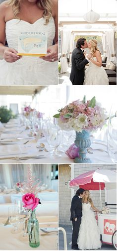 Long table with flowers so so pretty
