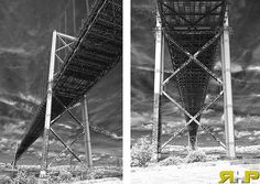 MacKay Bridge Infrared Dyptic - All of my photos/designs look MUCH better when viewed Large on my flickr site - http://www.flickr.com/photos/sizzler68/ - © Rodney Hickey 2013