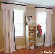 two-step cornice shape example Pelmet Box, Cornice, Pelmets, Bedroom Windows, Diy Box, Home Projects, Curtains, Shape, Living Room