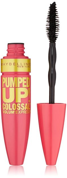 Maybelline Volum' Express Pumped Up! Colossal Washable Mascara, Classic Black [213] 0.33 oz (Pack of 2). Product of Maybelline. Pack of 2.