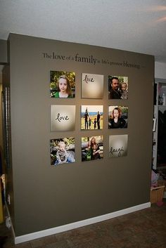 Great way to decorate a wall!