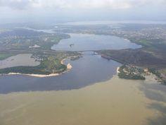 Rio Caroni (Azul) y el Rio Orinoco (Marron) Ciudad-Guyana-San-Felix . Pto Ordaz Edo.Bolivar - Vzla