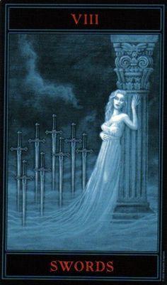 The Gothic Tarot: Eight of Swords