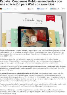 Nota de prensa sobre iCuadernos by Rubio en WayerLess.
