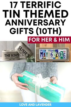 From the small and thoughtful to the big and shiny, we've found some super gifts to match the tin theme. See if there's one that's likely to make your favorite person feel extra special. #anniversarygifts #weddinganniversarygiftideas #tingifts #tenthanniversary #10thanniversary