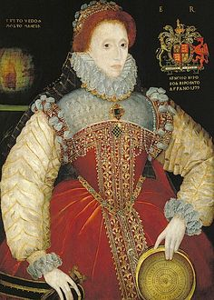 Queen Elizabeth 1st 1579 Love the richness of the red velvet and the contrasting trimmings