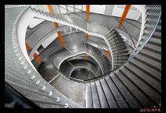 orange sticks #staircases