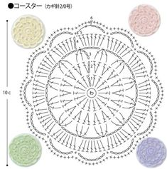 코바늘 도일리 코스터 도안 : 네이버 블로그 Crochet Placemat Patterns, Crochet Stitches Chart, Crochet Potholders, Crochet Diagram, Crochet Motif, Crochet Designs, Crochet Doilies, Crochet Flowers, Pineapple Crochet
