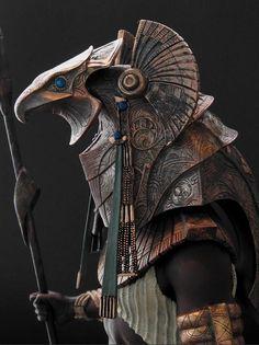 Great desogn and one of greatest idea Egyptian Mythology, Egyptian Art, Anubis And Horus, Egypt Concept Art, Poseidon, Egypt Tattoo, Fantasy Armor, Stargate, Gods And Goddesses