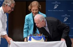 Former President Jimmy Carter (born October 2, 1924) celebrates his 90th birthday at The Carter Center.