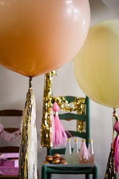 fringe balloons - birthday party ideas