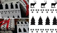 b + w graphic wrapping paper
