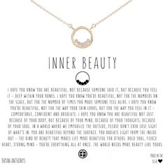 Our dainty inner beauty necklace is a constant reminder that to yourself that the world needs more beauty like yours. Healing Heart Quotes, Universe Love, Necklaces With Meaning, Symbols And Meanings, Best Friend Jewelry, Romantic Love Quotes, You're Beautiful, Change Quotes, Meaningful Quotes