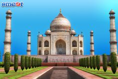 The great #TajMahal! Just one world you can create in smeet.