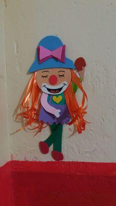 #Palhaça #EVA #Artesanato #DIY #Sorvete #Alegria #Amor #Diversão