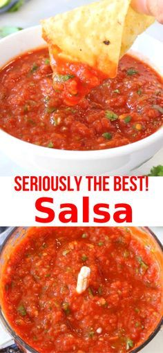 authentic mexican salsa Easy and healthy, the best salsa recipe ever, ready in 5 minutes, made with sweet San Marzano tomatoes ( or the fire roasted variety) plus an authentic touch of cumin. Tomato Salsa Recipe, Fresh Tomato Recipes, Fresh Tomato Salsa, Homemade Salsa Recipes, Vegan Salsa Recipe, Salsa Recipe Easy, Cooked Salsa Recipe, Roasted Salsa Recipe, Salsa Seasoning Recipe