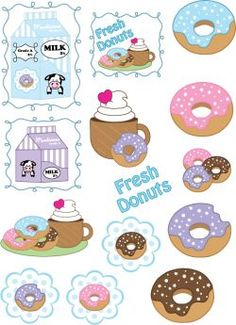 Free Printable Donuts Stickers