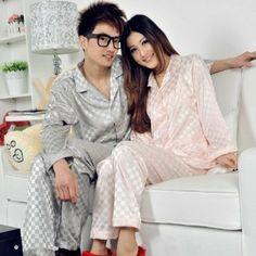 Amazon.co.jp: エレガント シルク 長袖 ペアパジャマ レディースパジャマ メンズパジャマasylp204-qlsy040: 服&ファッション小物