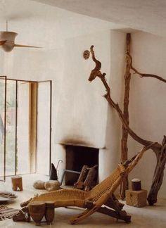 Georgia O´keefe home living room