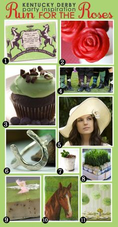 Kentucky Derby Party inspiration board ...love the rose cake pops!