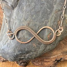 Infinity Necklace Wire Wrap Necklace Wire Wrap by SweetWaterSilver