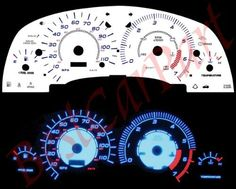 00-02 Saturn S-series SL/SL1/SC1 BLUE INDIGLO GAUGES by High performance parts. $32.00. Item Condition: Brand New  The Colored Gauge Faces are one of the key ingredients to gaining the most functional and attractive point to any cockpit. The faces will replace the dull black layout with a bright and easy to read cluster. This is a must for all car buffs.  White Face by Day. Glowing Blue at Night! The newest and most complete line of reverse gauge faces replacement...