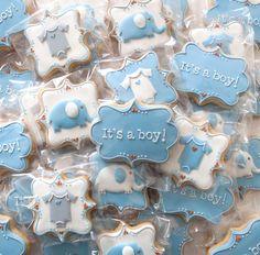 Baby Boy Cookies by MerryKakes
