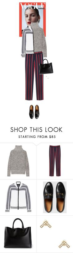 """""""Outfit of the Day"""" by wizmurphy ❤ liked on Polyvore featuring Theory, Mulberry, rag & bone, Gucci, Chloé, Elizabeth and James, ootd and redwhiteandblue"""