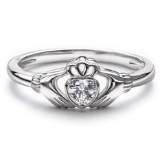 Sterling Silver ring with the centuries old Claddagh symbol which is a token of love, friendship, and loyalty. Ring has heart-shaped CZ center stone. Regularly $39.99, buy Avon Jewelry products online at eseagren.avonrepresentative.com