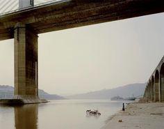 Nadev Kander - has to be seen in large format to really be appreciated... (photos of Yangtze river development, seen at CameraWork gallery, Berlin)
