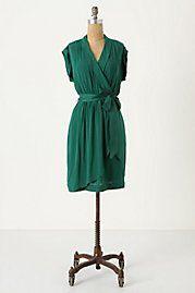 green anthropology dress
