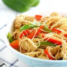Teriyaki Chicken Rice Noodles #recipe via The Pretty Bee http://www.yummly.com/recipe/Teriyaki-Chicken-Rice-Noodles_-1295937