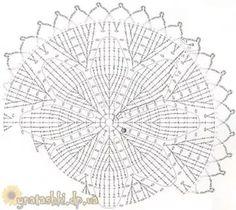 Crochet Tablecloth, Chart, Rugs, Decor, Ideas, Crochet Flowers, Stitches, Mandalas, Farmhouse Rugs