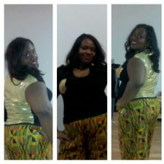 Diva in Kente and gold