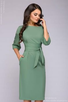 fashion dresses Fall Outfits For Work Dresses in a Budget, Casual work dresses, summer and winter work dress outfits, professional work dresses. Office Dresses For Women, Trendy Dresses, Dresses For Work, Clothes For Women, Dresses Dresses, Simple Elegant Dresses, Mode Outfits, Dress Outfits, Office Outfits