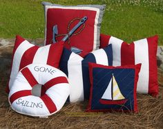 Cabana Stripe Nautical Pillow