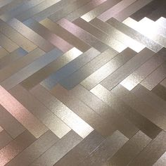 metallic parquet floor