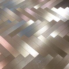 metallic parquet floor