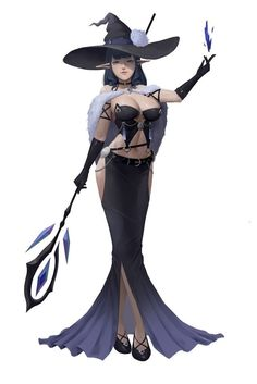 Witch Characters, Fantasy Characters, Female Characters, Anime Elf, Anime Witch, Fantasy Witch, Fantasy Girl, Fantasy Character Design, Character Art