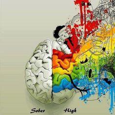 Sober vs. High on #cannabis