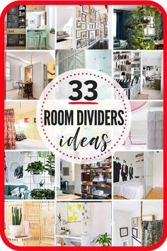 The 33 Most RAD Room Divider Ideas Around! DIY Room Dividers and Other Room Divider Ideas to Segregate Spaces In Beautiful Ways! Create Cozy Reading Nooks, Privacy Screens, and Offset Bedroom Areas in Small Studio Apartments with these Awesome Ideas! Bedroom Divider, Room Divider Bookcase, Room Divider Curtain, Room Divider Screen, Divider Walls, Pallet Room, Small Studio Apartments, Sala Grande, Space Dividers
