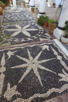 A lovely #mosaic #path                                                                                                                                                                                 Mehr