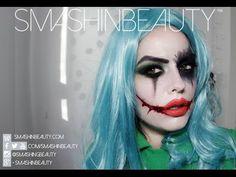 Sexy Female Joker Halloween Makeup Tutorial 2014   SmashinBeauty