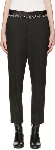 Haider Ackermann: Black Stitch Waist Trousers | SSENSE