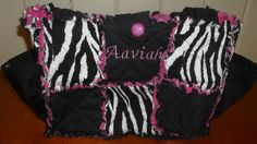 ZEBRA Print Rag Quilt Diaper Bag        FREE by cozyragquilts, $25.00