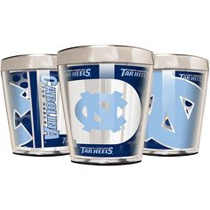 Great American Products Officially Licensed NCAA 3-piece Acrylic & Stainless Steel Shot Glass Set - North Carolina Tar Heels