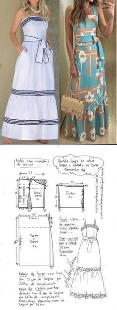 Sewing clothes simple diy dress 32 Ideas for 2019 Diy Clothing, Sewing Clothes, Clothing Patterns, Dress Patterns, Barbie Clothes, Fashion Sewing, Diy Fashion, Fashion Dresses, Fashion Clothes